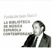 Juan March Delgado en la presentación del Libro-Catálogo de la Biblioteca de Música Española Contemporánea, 2001