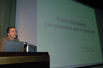 Luis Carlos Gago Bádenas. Conferencia sobre Schubert, o el romántico que no pudo ser dentro del ciclo Romanticismo