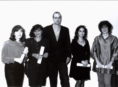 Elisa Chuliá, Ana Rico Gómez, Salvador Durán, Pilar Gangas y Berta Álvarez-Mirada. Entrega diplomas de Maestros y Doctores del CEACS