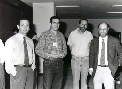 Carlos Martínez, Abelardo López Rivas, John A. Cidlowski y Robert Horvitz. Workshop The biochemistry and regulation of programe cell death
