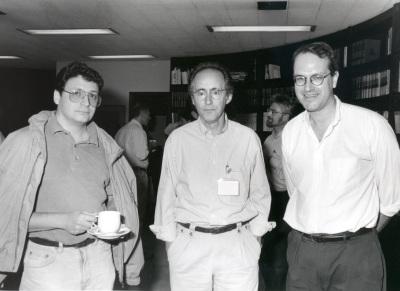 Fernando Azorín, Miguel Beato y Alan Wolffe. Workshop Chromatin structure and gene expression