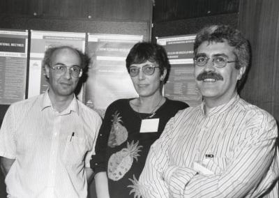 Enrico Coen, Zsuzsanna Schwarz-Sommer y José Pío Beltrán. Workshop Flowers Development