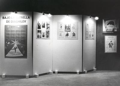 Vista parcial de la exposición Bajo la Estrella de Diaghilev