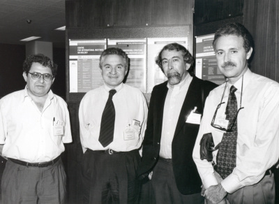 Manuel Rico, José María Mato, Tom L. Blundell y Martín Martínez-Ripoll. Workshop Three-diimensional Structure of Biological Macromoleculas