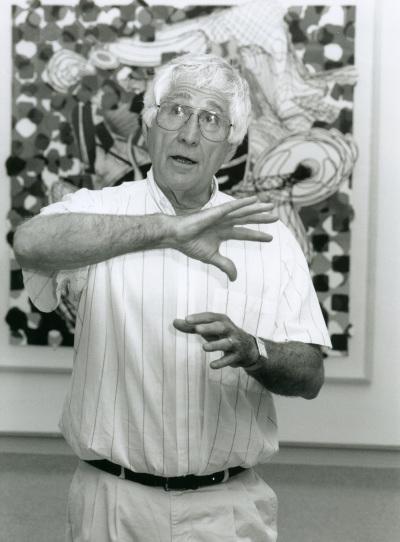 Kenneth Tyler. Exposición Frank Stella Obra gráfica 1982-1996. Colección Tyler Graphics de Nueva York.