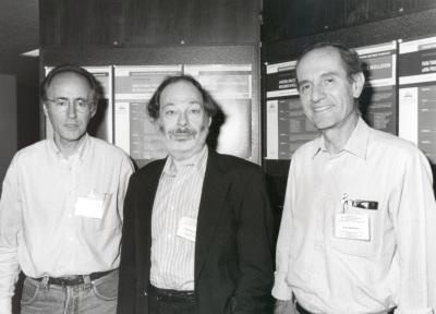 Miguel Beato, Ben Lewin y Joan Modolell. Workshop Switching Transcription in Development