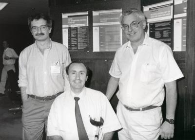 Luis Rivas, Manuel Fresno y Alan Sher. Workshop Cytokines in infections disease
