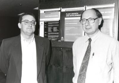 José Luis Micol y M. Van Montagu. Workshop Plant Morfogenesis