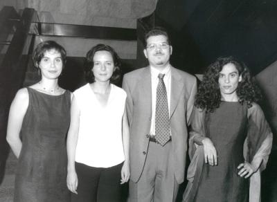 Sonia Alonso Sáenz de Oger, Belén Barreiro Pérez-Pardo, Javier Astudillo y Ana Rico Gómez. Entrega diplomas de Maestros y Doctores del CEACS
