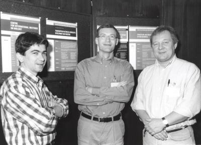 Juan Miguel Redondo, Sven Pettersson y Patrick Mathias. Workshop Transcription Factors in Linphacyte Development and Function