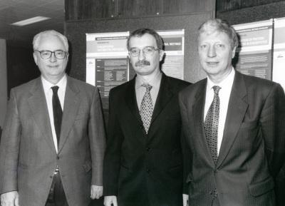 Francisco García Olmedo, Luis Rivas y Jules A. Hoffmann. Workshop Eukaryotic Antibiotic Peptides