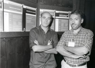 Paolo Sassone-Corsi y José R. Naranjo. Workshop Molecular Cloks