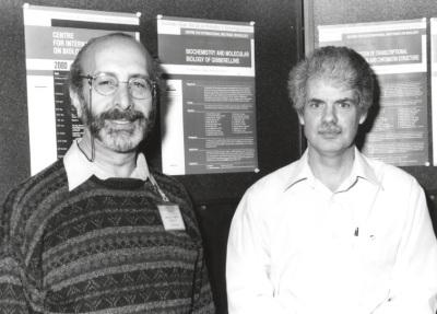 José Luis García-Martínez y Peter Hedden. Workshop Biochemistry and Transcriptional Regulation and Chromatin Structure