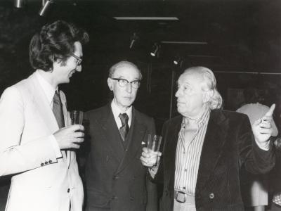 Andrés Amorós Guardiola, Gerardo Diego y Rafael Alberti. Exposición Picasso