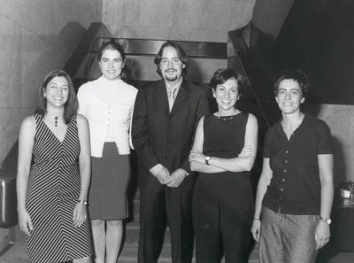 Amparo González Ferrer, Dulce Manzano Espinosa, José Fernández Albertos, Teresa Martín García y Gracia Trujillo Barbadillo. Maestros en Ciencias Sociales