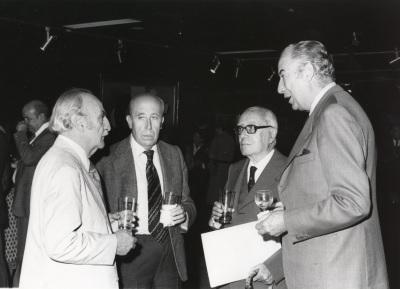 Francisco Ayala, Francisco García Pavón, Enrique Lafuente Ferrari y Francisco Ynduráin Muñoz. Exposición Picasso