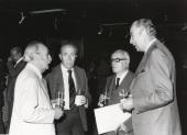 Francisco Ayala, Francisco García Pavón, Enrique Lafuente Ferrari y Francisco Ynduráin Muñoz. Exposición Picasso, 1977