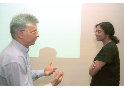 Edgar Serfling y Anjana Rao. Workshop The Calcium/Calcineurin/NFAT Pathway Regulation and Function