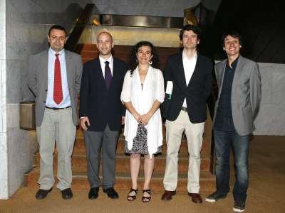 Ignacio Sánchez-Cuenca, Javier Alcalde Villacampa, Luis de la Calle, Laia Balcells y Lluis Orriols. Entrega diplomas de Maestros y Doctores del CEACS