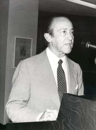 Carlos Manuel Fernández-Shaw en el acto homenaje a los donantes de la Biblioteca de Teatro