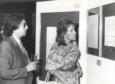 Román Alís y Mª Cruz Galatas. Exposición del Centro de Documentación de la Música Española Contemporánea