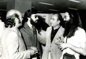 Claudio Prieto, Carlos Cruz de Castro, Ramón Barce y Pedro Estevan. Exposición del Centro de Documentación de la Música Española Contemporánea, 1983
