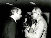 Cristóbal Halffter y otra persona. Exposición del Centro de Documentación de la Música Española Contemporánea, 1983