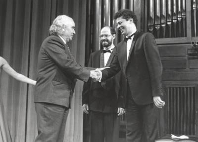 Antón García Abril, Sebastián Mariné y Leonel Morales. Concierto-Homenaje a Antón García Abril