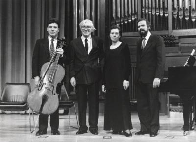 Gonzalo de Olavide, Elisa Agudiez, Rafael Ramos y Josep Colom. Concierto-Homenaje a Gonzálo de Olavide