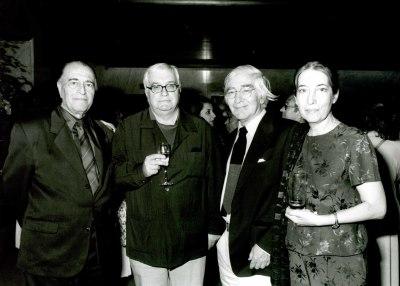 Ramón Barce, Javier Alfaya y Gonzalo de Olavide en la presentación del Libro-Catálogo de la Biblioteca de Música Española Contemporánea
