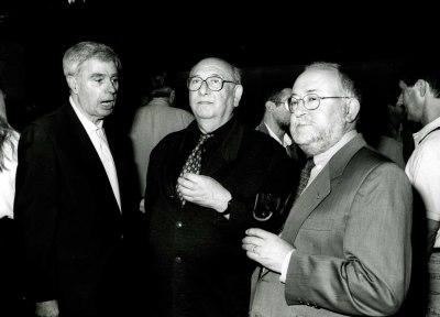 Antonio Fernández Alba, Carmelo Bernaola y Jesús Villa Rojo en la presentación del Libro-catálogo de la Biblioteca de Música Española Contemporánea