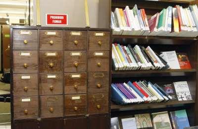 Vista parcial de la Biblioteca CEACS