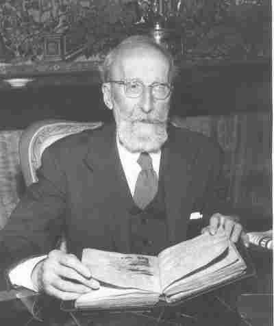 Ramón Menéndez Pidal. Acto de donación del Poema del Mio Cid al Estado