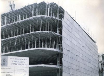 Edificio en construcción de la sede de la Fundación Juan March