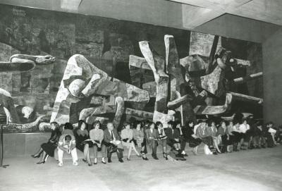 Mural de Vaquero Turcios. Edificio sede de la Fundación Juan March