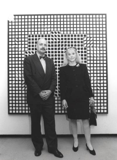 Javier Maderuelo y Michèle-Catherine Vasarely. Exposición Vasarely