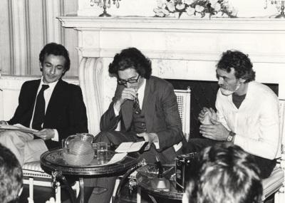 José Luis Gómez, Andrés Amorós Guardiola y Fabiá Puigserver. Semana Teatro Español en Nueva York organizada por la Fundación y el Spanish Institute de Nueva York