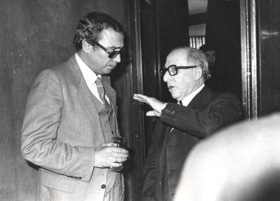 Ramón Areces y Miguel A. Torres. Comida-Homenaje de ABC a la Fundación Juan March