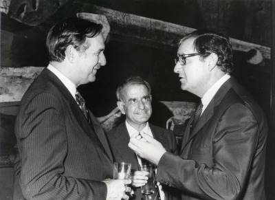 Peter Willians, Antonio Sáenz de Miera y Juan March Delgado. 19 Reunión del Club de La Haya