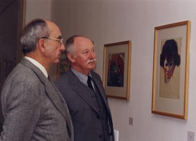 José Luis Yuste Grijalba y Manfred Reuther. Exposición Nolde, Visiones Acuarelas. Colección Fundación Nolde-Seebüll