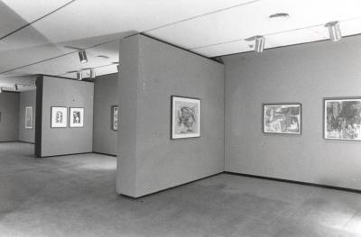 Vista parcial de la exposición Expresionismo abstracto. Obra sobre papel Colección The Metropolitan Museum of Art, Nueva York