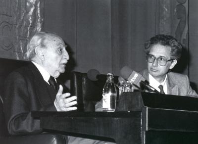 Francisco Ayala y Andrés Amorós Guardiola. Encuentro con Francisco Ayala