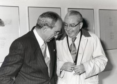 José Luis Yuste Grijalba y Jesús Aguirre. Presentación del libro Encuentro con José Hierro