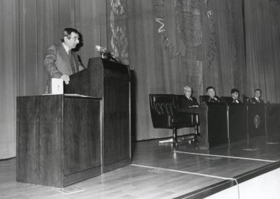 Hubert Daschner. Acto de entrega del Premio y Beca Montaigne/94