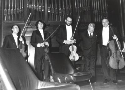 Cuarteto Arcana y Cristóbal Halffter. Concierto en el Acto de entrega del Premio y beca Montaigne/94