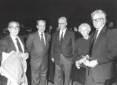 Fernando Morán, Juan Marichal, Francisco García Olmedo, Soledad Salinas y Elías Díaz García. Presentación del nº 100 de la Revista Saber Leer