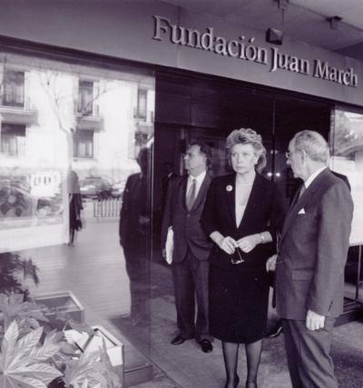Viviane Reding y José Luis Yuste Grijalba. Visita cultural a la Fundación Juan March