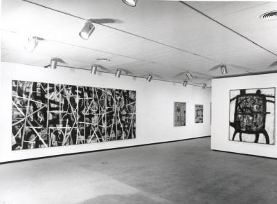 Vista parcial de la exposición Adolph Gottlieb