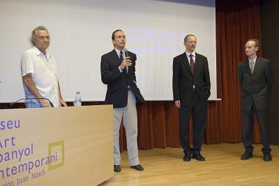 Gary Hill, Holger Broeker, Manfred Müller y Manuel Fontán del Junco. Exposición Gary Hill. Imágenes de luz Obras de la colección del Kunstmuseum Wolfsburg