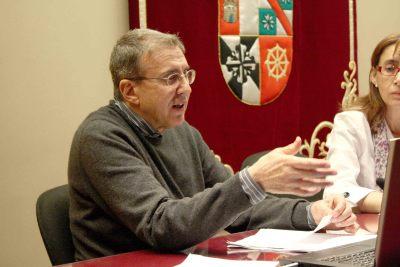 José Mª Yturralde en el curso Arte y Percepción.Incetidumbre y percepción